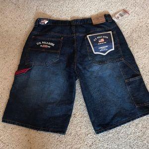 NWT {US Polo Assn} Carpenter Jean Shorts